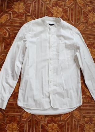 Белая рубашка pull&bear