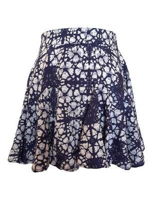 Классная пышная юбка солнце из легкой вискозы, цветочный принт