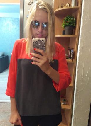 Красивая ярка блуза, туника-размер 42-44
