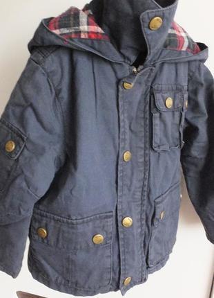 Демисезонная с подстежкой / зимняя куртка zara kids размер 98 на 2-3 года