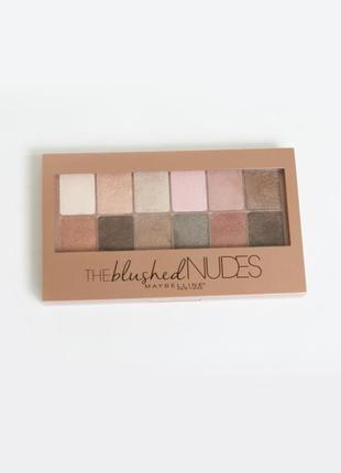 Палетка теней для век maybelline la palette blushed nudes