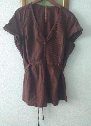 Блуза   лен - коттон evans