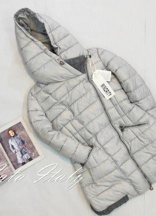Курточка серая с довязом, зима
