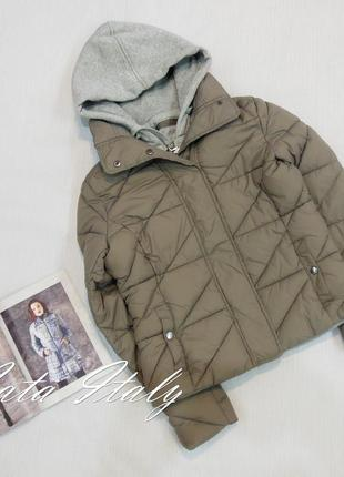 Куртка с довязом трикотаж