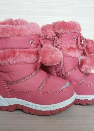 Зимние сапоги-дутики для девочки 14.5 - 17.5 см  розовые