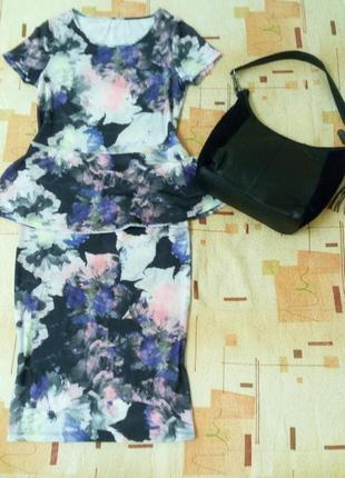 Костюм комплект новый блуза с баской и юбка карандаш