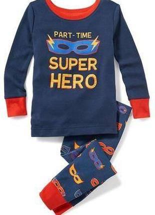 Детская хлопковая пижама old navy из сша 18-24м.