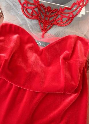 Шикарное бархатное платье2 фото