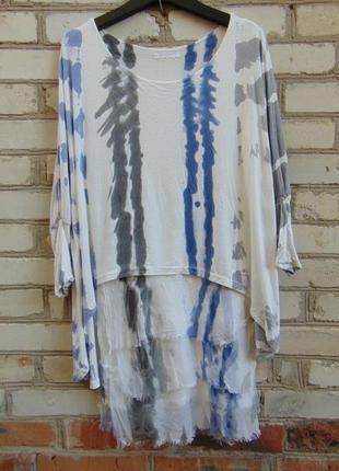 Замечательное двухслойное платье, шелк + вискоза, италия