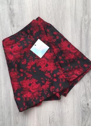 Шорты юбка на высокой посадке с вышивкой от missguided3 фото
