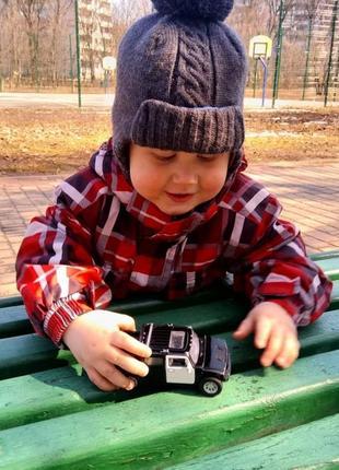 Демисезонная шапка,осенне-весенняя на мальчика(ог 47-49 р.)температурный режим до -5