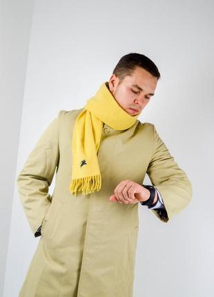 Burberry желтый кашемировый шарф со всадником