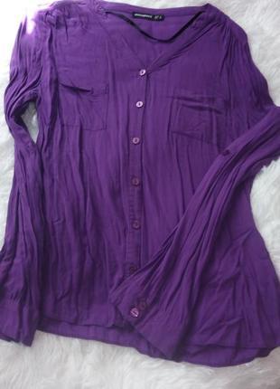 Якрко фіолетова рубашка, супер модна