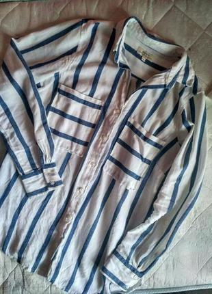 Рубашка в полоску papaya