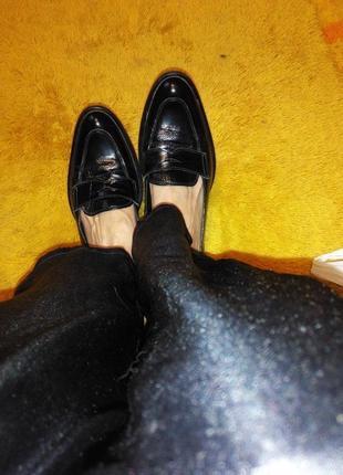 Кожаные лоферы, лоуферы, туфли на низком каблуке