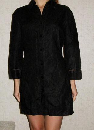 Туника/рубашка/платье, британского бренда next, натуральный лён, р. s-m