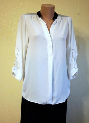 Комбинированная блуза с серебристой отделкой