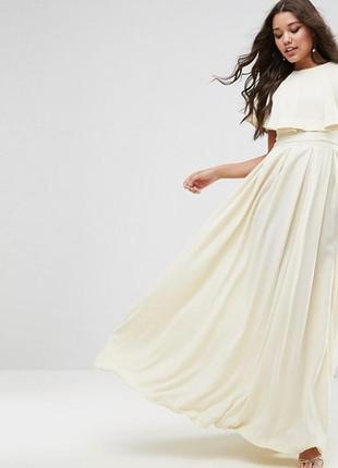 Ліквідація товару до 10 грудня 2018 !!! платье макси с оборками на плечах asos