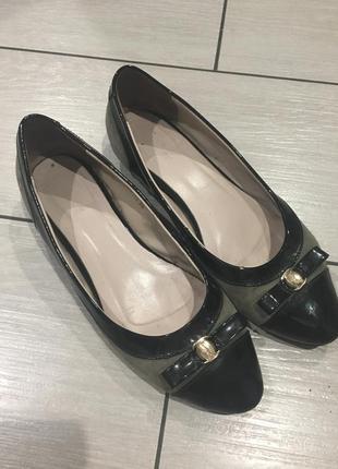 Балетки туфлі шкіра