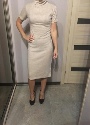 Бежевое платье one by one s