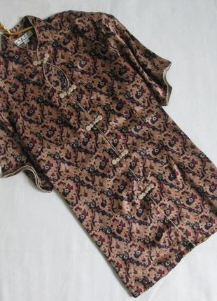Qiaonuo /роскошная винтажная блуза из чистого шелка /ретро винтаж блузка pure silk