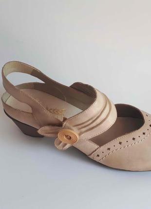 Туфли балетки rieker р 41 42  натур кожа