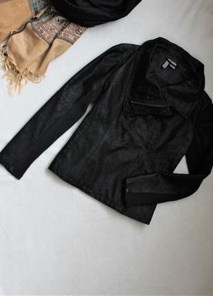 Стильная черная курточка косуха от h&m, размер s