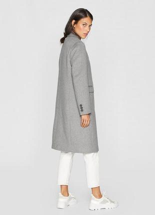 Длинное пальто stradivarius