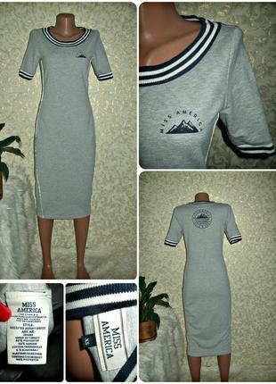 Платье миди miss america плотный трикотаж
