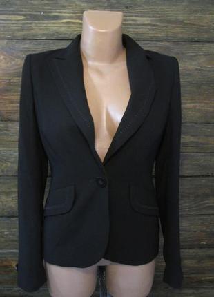 Пиджак стильный marks&spencer, 8 (s, 36), polyester, черный, новый!