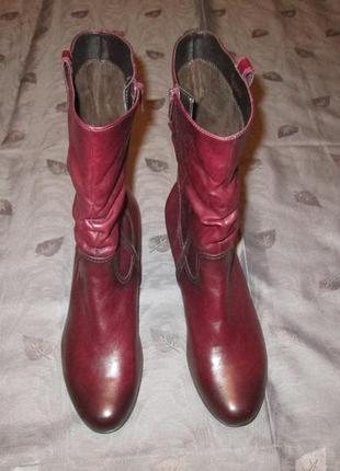 Кожаные сапоги gabor ботинки размер 40 - 41