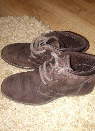 Фирменные демисезонные ботинки puccetti
