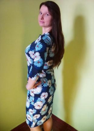 Оригинальное теплое платье с рукавом три четверти2 фото