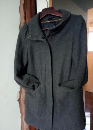 Шeрстяноe пальто h&m