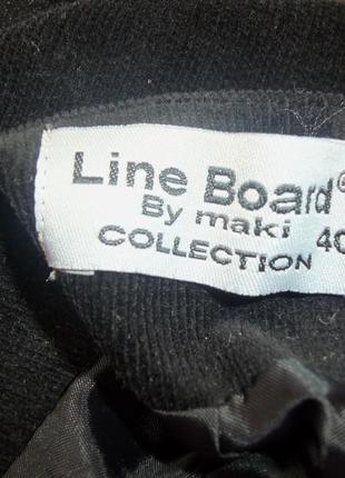Чёрная вельветовая юбка миди с  атласной баской / с рюшами line board by maki m/l4