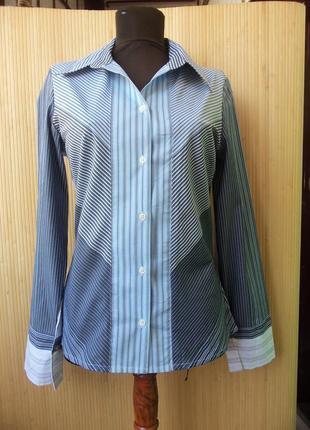 Французская блуза / рубашка  в полоску в деловом стиле