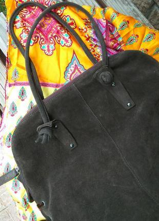 Замшевая сумка мешок max&co