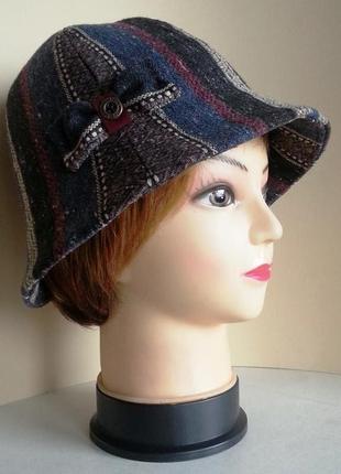 Шляпка женская. колокольчик. ткань в этно стиле. ручная работа. цена 160 гр.