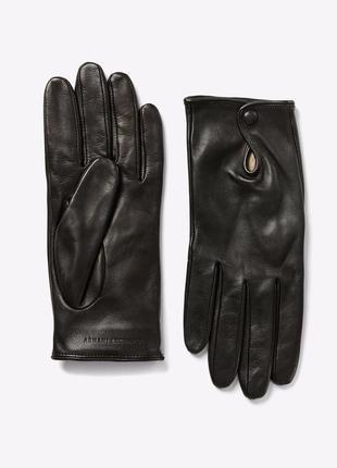 Armani exchange черные перчатки кожа оригинал 7.5