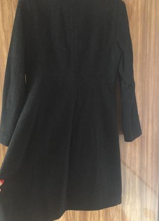 Пальто чёрное деми шерсть