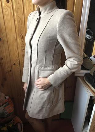 Шерстяное классическое пальто zara