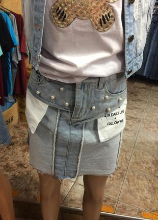 Юбка джинсовая один размер остался