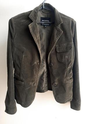 Вельветовый пиджак жакет блейзер reporter (польша)