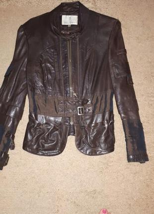 Кожаная куртка шоколадного цвета италия