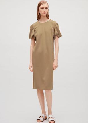 Плотное трикотажное платье cos, размеры xs, l