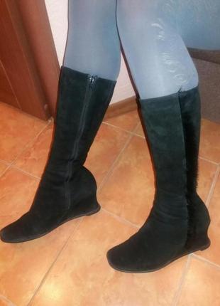 Натуральні замшеві чоботи