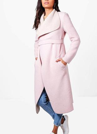 Нежно-розовое пальтишко boohoo, новое, р м