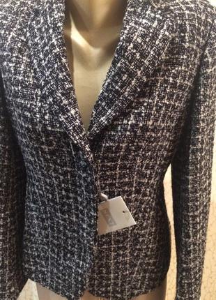 Стильный твидовый теплый пиджак от next новый