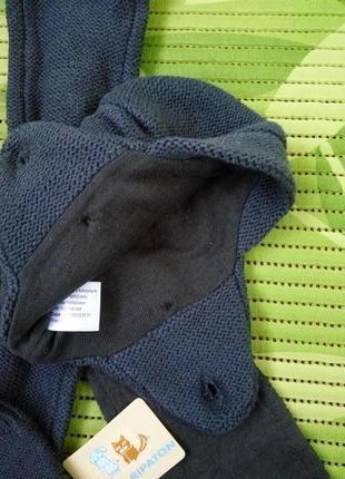 Демисезонный трикотажный  комплект шапка, шарф, варежки 48-502 фото