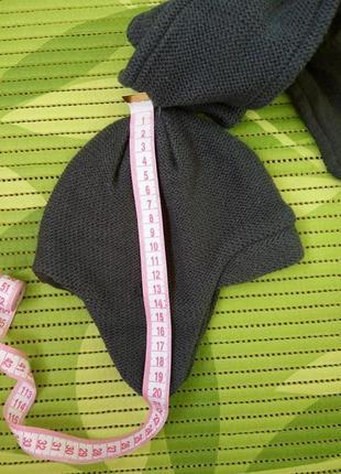 Демисезонный трикотажный  комплект шапка, шарф, варежки 48-503 фото